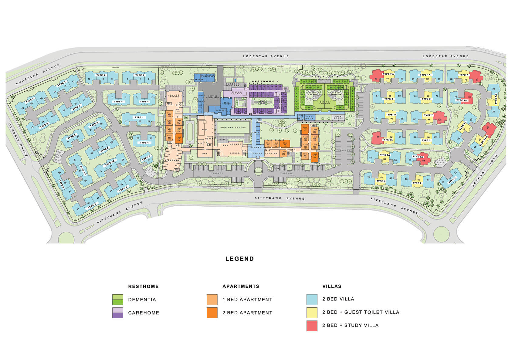 Lady Wigram Retirement Village Site Plan